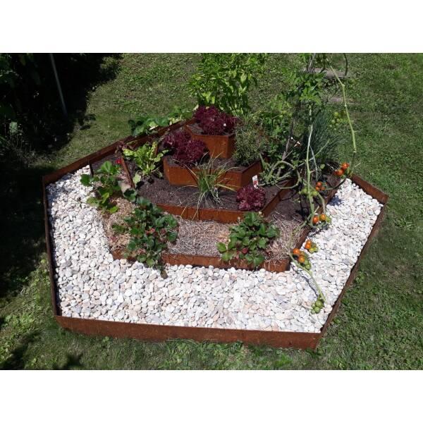 Blumenpyramide Corten Edelrost
